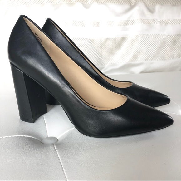 d7ed9869ac3c Nine West Astoria Black Leather Pump. M 5a6e59a68290afa48416db40
